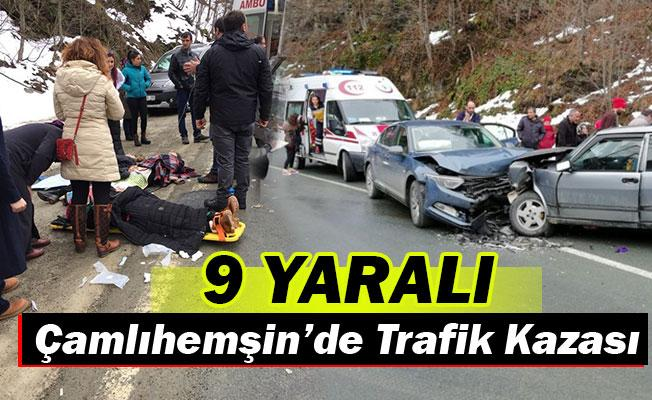 Çamlıhemşin'de Feci Kaza 9 kişi...