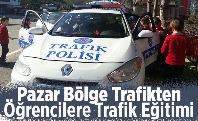 Pazar Bölge Trafik'te Öğrencilere Trafik Eğitimi