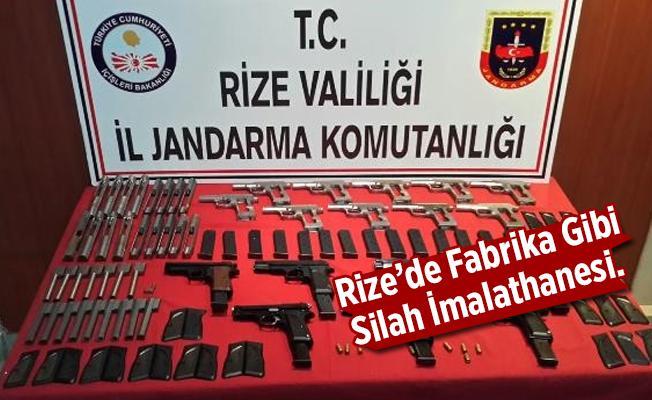 Rize'de Fabrika Gibi Silah İmalathanesi.