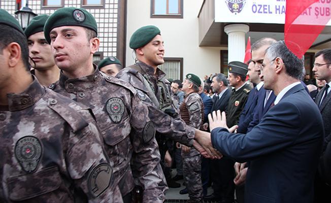 Rize`de Özel Harekat Polisleri, Afrin`e Uğurlandı