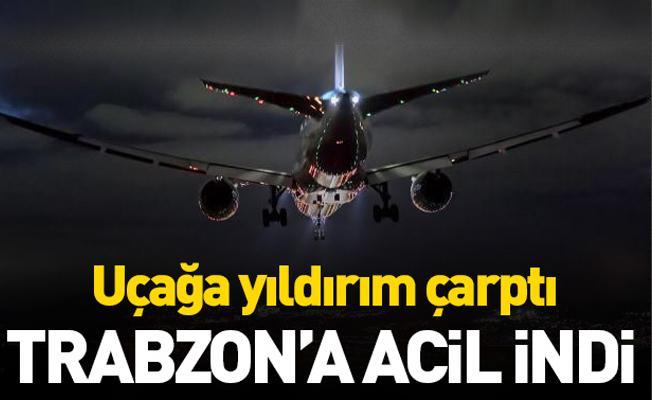 Yıldırım çarpan uçak Trabzon'a acil indi