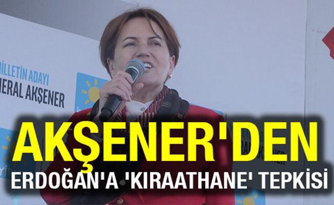 Akşener`den Erdoğan`a `Kıraathane` Tepkisi