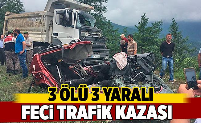 Feci Kaza 3 ölü 3 yaralı
